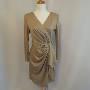 Jeffrey & Dara Gold Dress, Size: 14